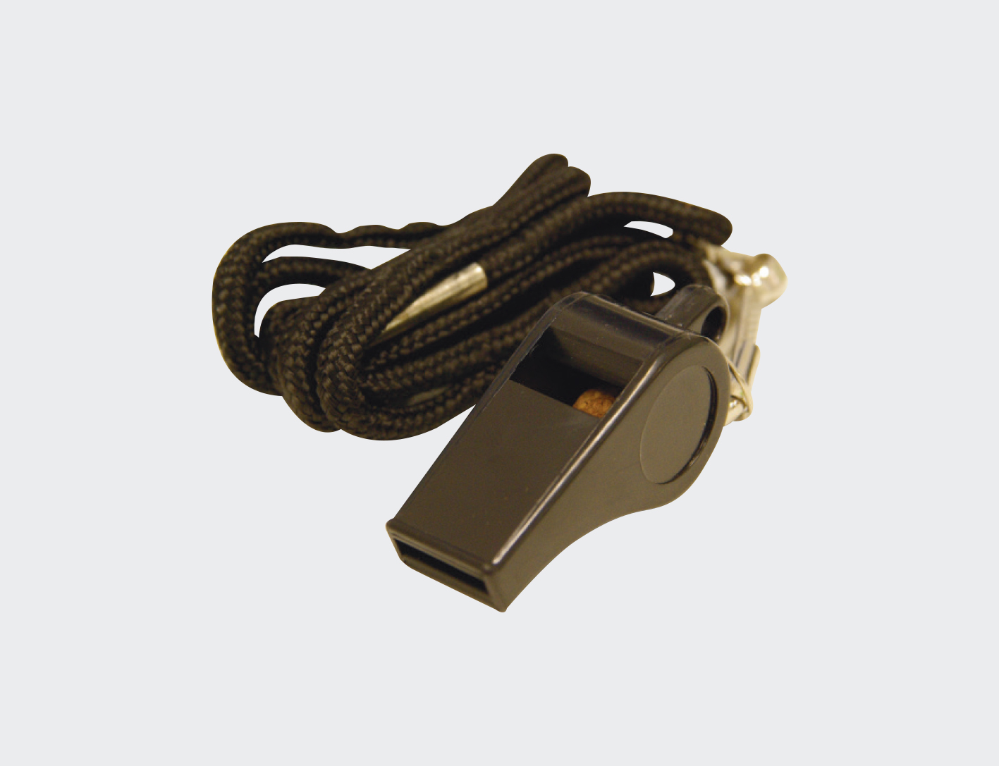 Plastic Whistle with Lanyard -0