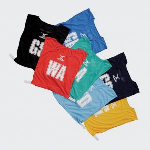 Netball Bib Set Polyester (Various Colours)-0